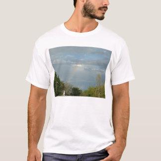 Rainbow Over Church Steeple T-Shirt