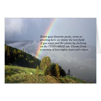 Rainbow over Colorado Mountaintop w/ Your Text Card