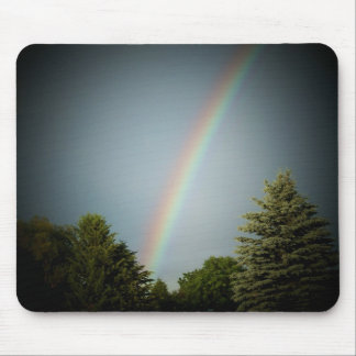 Rainbow over Evergeen Mouse Pad