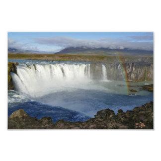 Rainbow over Godafoss Waterfall, Iceland Photo Print
