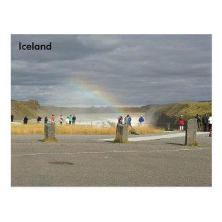 Rainbow over Gullfoss, Hvítá River, Iceland Postcard