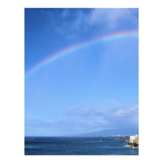 Rainbow over Honolulu, Hawaii Flyer