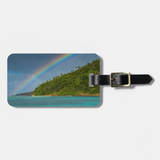 Rainbow over island, American Samoa Bag Tag
