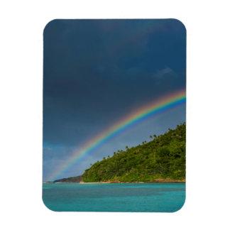 Rainbow over island, American Samoa Magnet