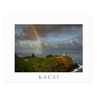Rainbow over Kilauea Lighthouse Kauai postcard