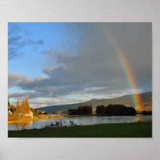 Rainbow Over Loch Tummel Poster