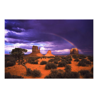 Rainbow over Monument Valley Photo Print