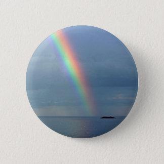 Rainbow over ocean 2 inch round button