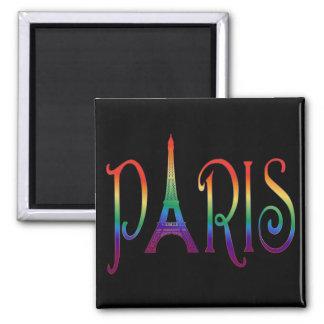 rainbow over Paris Magnet