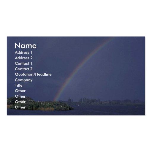 Rainbow over Pelican Island National Wildlife Refu Business Cards