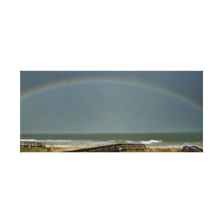 Rainbow Over The Atlantic Canvas Print