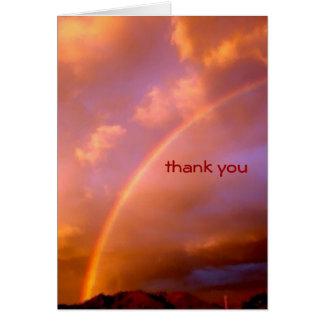 rainbow over the ortiz card