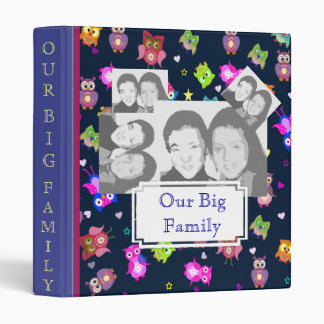 Rainbow owls big family with sample photos 3 ring binder