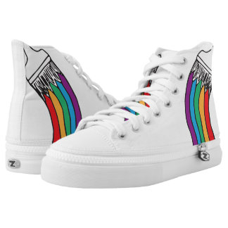 Rainbow Paint Brush High Tops