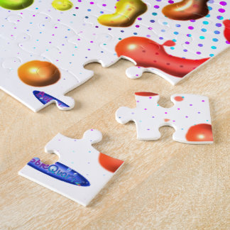 Rainbow paint drop abstract puzzle