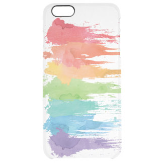 Rainbow Paint Splash Clear iPhone Case