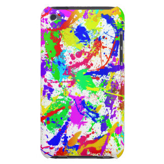 Rainbow Paint Splatter Barely There iPod Cases