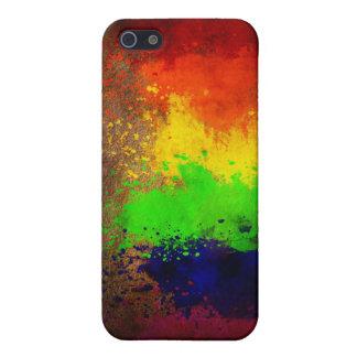 Rainbow Paint Splatter iPhone 5 Case