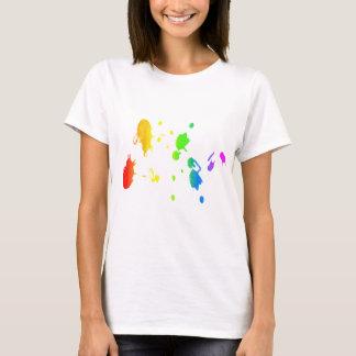 Rainbow paint-splatter T-Shirt