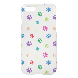 Rainbow Painted Paw Prints iPhone 7 Case