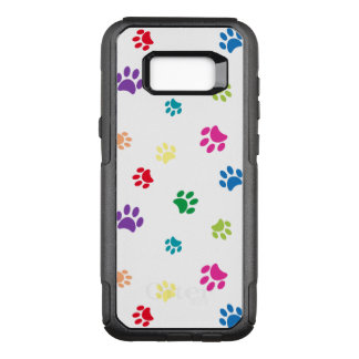 Rainbow Painted Paw Prints OtterBox Commuter Samsung Galaxy S8+ Case