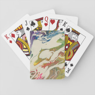 Rainbow painting playing cards