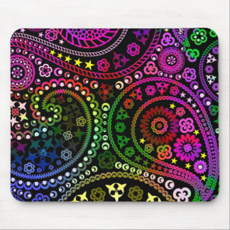 Rainbow Paisley Mouse Pad