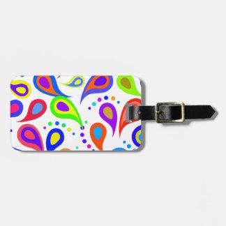 Rainbow Paisley Pattern Luggage Tag