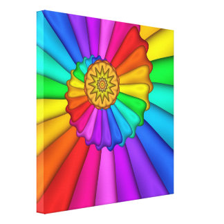 Rainbow Palette Wrapped Canvas Print