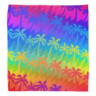 Rainbow palm trees bandana