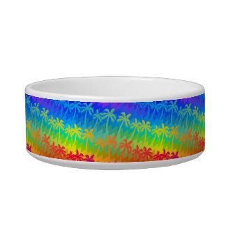 Rainbow palm trees bowl