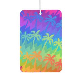 Rainbow palm trees car air freshener