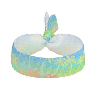 Rainbow palm trees hair tie