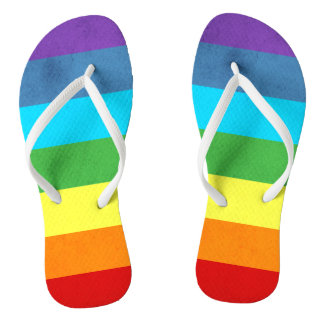 Rainbow Pants Unicorn Flip Flops