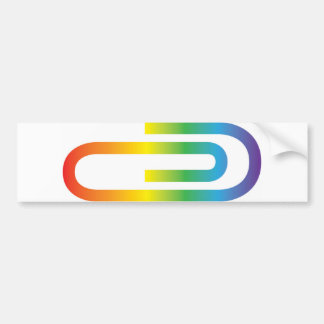 Rainbow Paperclip Bumpersticker, benefits the ACLU Bumper Sticker