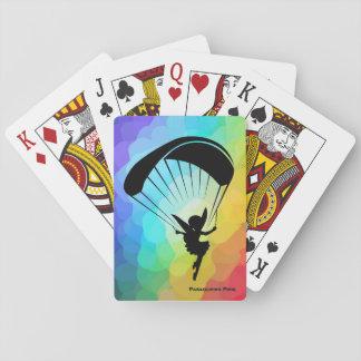 Rainbow Paragliding Pixie Cards