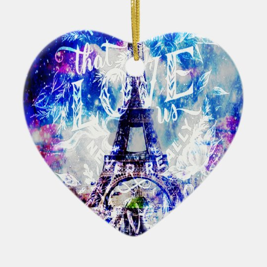 Rainbow Parisian Dreams of the Ones that Love Us Ceramic Ornament