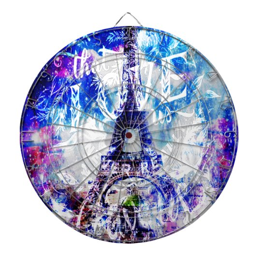 Rainbow Parisian Dreams of the Ones that Love Us Dartboard