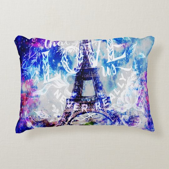 Rainbow Parisian Dreams of the Ones that Love Us Decorative Pillow