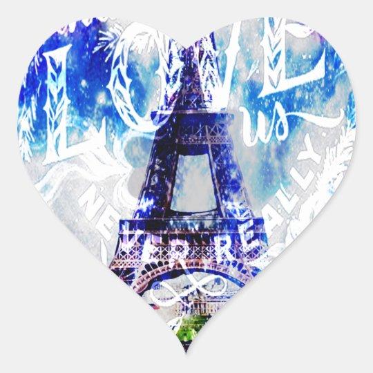 Rainbow Parisian Dreams of the Ones that Love Us Heart Sticker