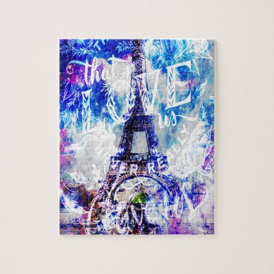 Rainbow Parisian Dreams of the Ones that Love Us Jigsaw Puzzle