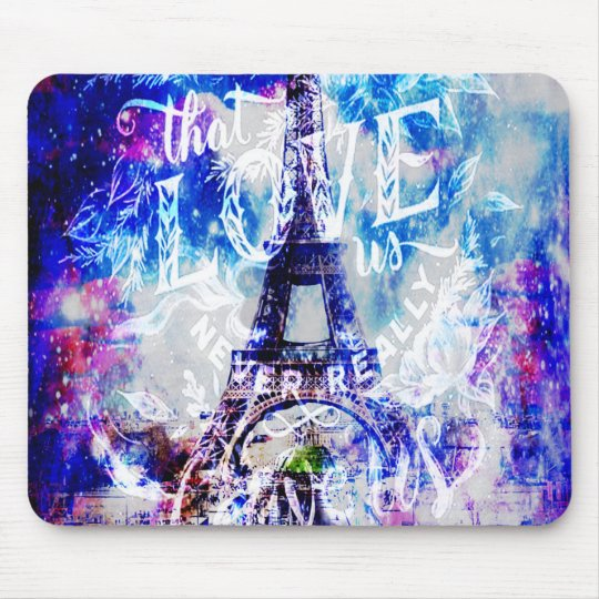 Rainbow Parisian Dreams of the Ones that Love Us Mouse Pad