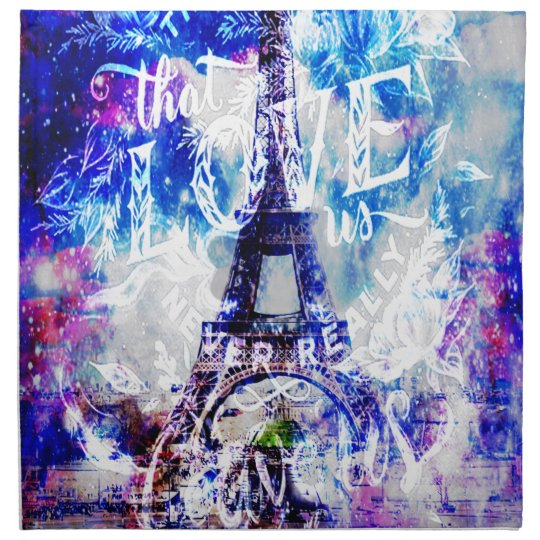 Rainbow Parisian Dreams of the Ones that Love Us Napkin