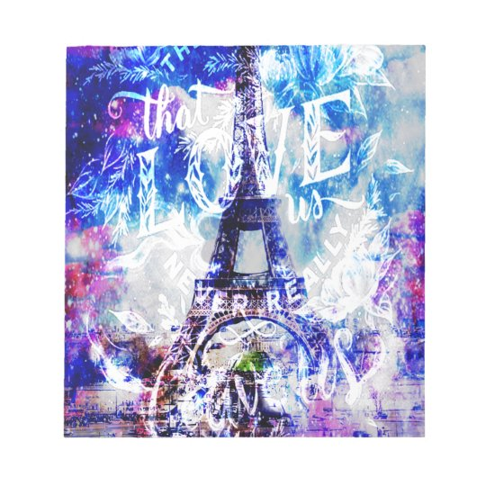 Rainbow Parisian Dreams of the Ones that Love Us Notepad