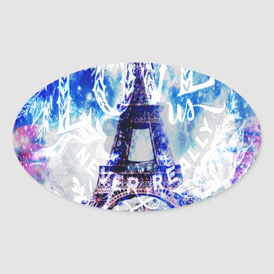 Rainbow Parisian Dreams of the Ones that Love Us Oval Sticker