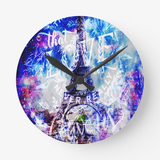 Rainbow Parisian Dreams of the Ones that Love Us Round Clock