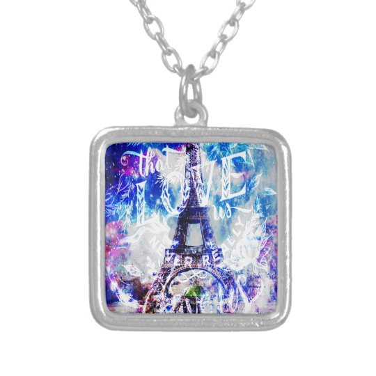 Rainbow Parisian Dreams of the Ones that Love Us Silver Plated Necklace