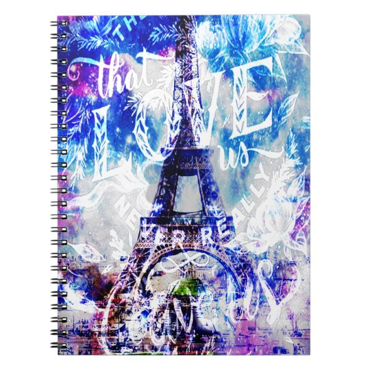 Rainbow Parisian Dreams of the Ones that Love Us Spiral Notebook