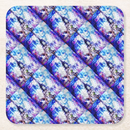Rainbow Parisian Dreams of the Ones that Love Us Square Paper Coaster