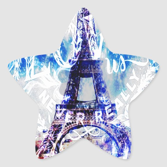 Rainbow Parisian Dreams of the Ones that Love Us Star Sticker